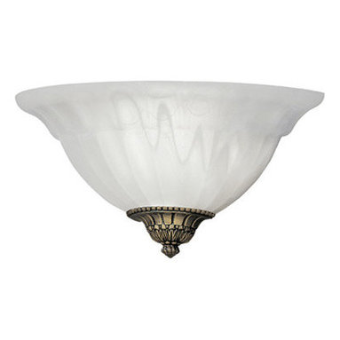 Designers Fountain - Designers Fountain 6021-AST 1 Light Wall Sconce with Scavo Glass and Accent Caps - Features: