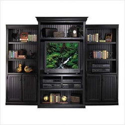 "Kathy Ireland Home by Martin Furniture - Southampton Onyx 78"" H Bookcase or Ente - Comes in a lightly distressed Black Onyx finish"