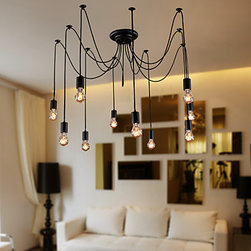ceiling lights - Artistic Chandeliers with 10 Lights Bulbs Design