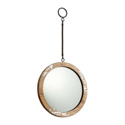 Cyan Design - Cyan Design Through The Looking Glass Round Mirror in Antique White - Cyan Design Through The Looking Glass Round Mirror in Antique White from Mirrors Collection
