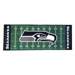 Fanmats - NFL Seattle Seahawks Football Long Accent Runner Rug - FEATURES: