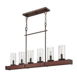 Hinkley Lighting - Hinkley Lighting | Jasper 6 Light Linear Chandelier - Design by Fredrick Ramond.