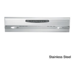 Broan - Broan QS236 Allure Series 36-inch Under Cabinet 300 CFM Range Hood - The QS2 Range Hood is over 50-percent quieter than the average hood and delivers brilliant halogen lighting to your cook top. Three-position,soft-touch controls and a non-stick,DuPont Teflon coating on the bottom cover make it smooth and easy to clean.
