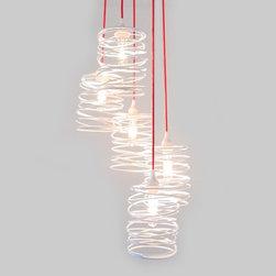 Ridgely Studio Works - Ridgely Studio Works   Spiral Nest Cascading 5 Light Chandelier - Design by Zac Ridgely, 2009.