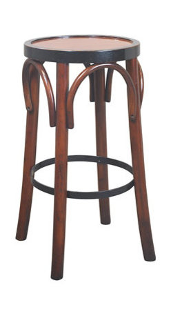 """Honey Barstool 'Grand Hotel' - The honey barstool 'grand hotel' measures 28.7 x 14.8"""". The design of our tall brasserie accessory goes back to the late 19th C. when bentwood furniture was developed in Vienna and exported across Europe and the rest of the world. Timeless in style and sturdy in construction, many have survived ages. And ours will follow the same tradition, when handled with love and care."""