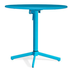 Zuo Modern - Big Wave Round Folding Table - Adds a bold dash of color to any outdoor space. The Big Wave Folding Table series is made of epoxy coated steel that's durable enough for any climate. Easily folds up for storage when not in use.
