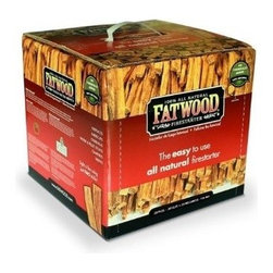 Fatwood Firestarter 15 Pound Box - Fatwood is harvested from the stumps of pine trees that contain a high concentration of natural resin. This organic, 100 percent natural resin allows the fatwood fire starter to be started with a single match and gives a sustained flame. Fatwood is 100 percent natural, with no chemical or additives. Fatwood is harvested from non-endangered, non-rainforest, non-living trees. User friendly, safe, clean and non-toxic. Indoor or outdoor use. Indefinite shelf life. Can be started with a match, even when wet. SCS Green Cross certified. Great for use in barbecues, campfires, wood stoves, fire pits, pellet stoves, chimneys, coal stoves, fireplaces.