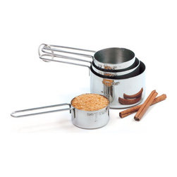 Norpro - Measuring Cup Set - Durable, shining stainless steel ensures that this accurate set will help create delicious desserts and feasts for years to come. A level rim ensures proper measuring while handy pour spouts add extra convenience to these kitchen essentials.   Includes 1-cup, 1/2-cup, 1/3-cup and 1/4-cup measuring cups Stainless steel Hand wash Imported