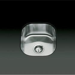 "KOHLER - KOHLER K-3336-NA Undertone Single-Basin Rounded Undercounter Kitchen Sink - KOHLER K-3336-NA Undertone Single-Basin Rounded Undercounter Kitchen Sink, 13-3/4"" x 15-3/8"" x 7-1/2"""
