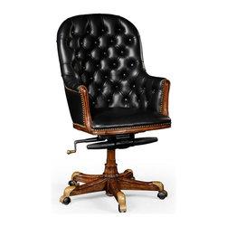 EuroLux Home - High Chair Medium Walnut Black Office - Product Details