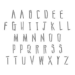 Stencil Ease - Sticks Alphabet Stencil - Sticks Alphabet - Uppercase - includes - includes A-Z Uppercase an extra A E I L M N O P R S and T. Comes with 37 individual sheets of durable reusable plastic.
