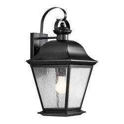 "Kichler - Kichler 9709BK Mount Vernon Collection 1 Light 20"" Outdoor Wall Light - Kichler 9709 Mount Vernon Outdoor Wall Light"