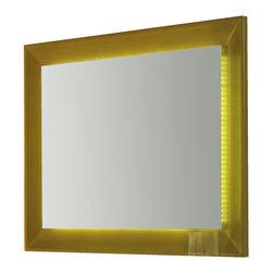 "Viena LED 43"" 1/4 touch light mirror. Gold. - Viena LED mirror 43"" 1/4. Gold gloss."