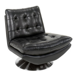 Hooker Furniture - 37 in. Tufted Back Chair - Swivel base. Upholstered seat and back. 37 in. W x 35 in. D x 32.5 in. H