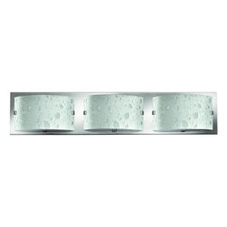 Hinkley - Daphne 3-Light Bath Vanity Chrome 5923CM - The Daphne Collection features a Chrome Finish with Bubble Art glass.