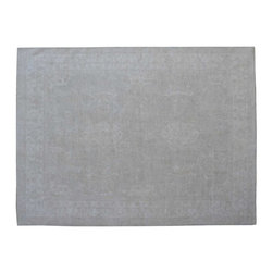 100% Wool Stone Wash Peshawar Hand Knotted 9'x13' Oriental Rug SH15403 - Hand Knotted Oushak & Peshawar Rugs are highly demanded by interior designers.  They are known for their soft & subtle appearance.  They are composed of 100% hand spun wool as well as natural & vegetable dyes. The whole color concept of these rugs is earth tones.
