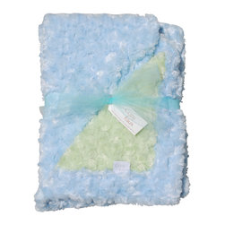 Light Blue/Sage Baby Blanket - This throw blanket is supremely soft and cozy while its two-tone color scheme keeps it looking elegant and sophisticated in any nursery. Buy this blanket for your baby or give as a shower gift to expectant parents. They'll be sure to love and cherish it for years.