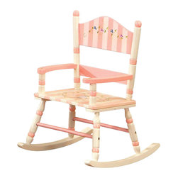 Teamson Design - Teamson Kids Bouquet Hand Painted Girl's Rocking Char - Teamson Design - Kids Rocking Chairs - W3847F. A cute addition to the bouquet collection this hand painted girl's rocking chair has such a beautiful theme every girl will want one!
