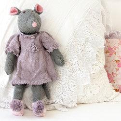 Zia & Tia - Audrey Mouse Hand-Knit Organic Stuffed Toy - Audrey Mouse Hand-Knit Organic Stuffed Toy