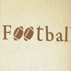 Decals for the Wall - Wall Decal Quote Sticker Vinyl Art Lettering Football Boy's Sports Room S32 - This decal says ''Football''