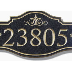 Avonite Victorian Address Plaque - Some homes demand a little more ornamentation, a historically glamorous touch. The address plaque, being one of the most iconic pieces in a Victorian home, is an ideal way to give these sorts of homes a more personalized and stylish touch.