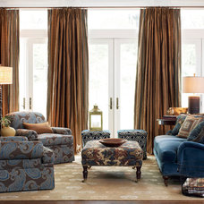 Traditional Living Room by Calico
