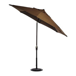 Home Decorators Collection - 7.5' Market Umbrella Canopy - Available in a variety of designs and colors, our 7.5' Market Umbrella Canopies come in both polyester and acrylic fabrics and are quality-crafted for long-lasting beauty. Available in 100% weather-treated polyester or 100% solution-dyed acrylic. Choose from a variety of colors and designs. Coordinates with the 7.5' Auto-Tilt Market Umbrella Frame.