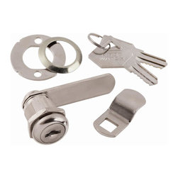 First Watch Security - Cabinet & Drawer 7/8 in. Utility Cam Lock in Stainless Steel (Set of 10) (Keyed - Choose Key Type: Keyed Individually. Keyed locking for maximum security. Requires 3/4 in. mounting hole. For wood or metal door or drawer. 2 washers for 90 or 180 degree rotation. Max drawer thickness 1/2 in.. Stainless Steel Finish