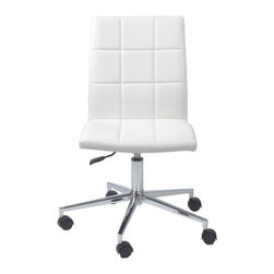Euro Style - Euro Style Cyd Office Chair X-THW18171 - Three versions of one great idea. The Cyd chairs. What sets them apart is not only the quality of the manufacturing, it's this very well executed grid like stitching that is applied to the seat and back. It's more comfortable. It has a great look. And contributes to longer wear. Get to know Cyd. You're going to get along well.