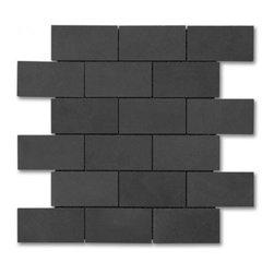 Lava Rock polished 2x4 Brick pattern stone mosaic - Lava Rock polished 2x4 stone brick pattern mosaic.