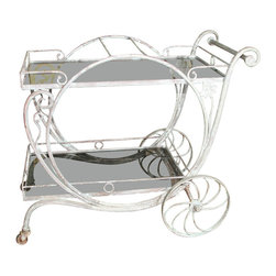 Salterini Long Island Drinks or Tea Cart - I love the whimsical lines of this vintage English tea cart that can also double as a bar cart or storage shelving. Part functional and part decorative, it's fully beautiful.