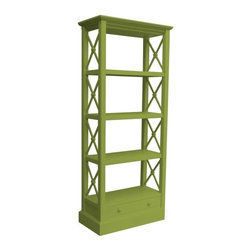 Trade Winds - New Trade Winds Bookcase Green Painted - Product Details