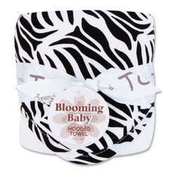 "Trend Lab - Bouquet Hooded Towel - Black & White Zebra - Trend Lab's Zebra Print Hooded Towel will keep your baby warm and dry after bath time. The white terry towel features a cotton percale zebra print throughout the hood and trim in black and white. Hooded towel measures 32"" x 30""."