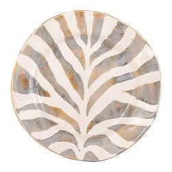 Vietri - Safari Salad Plate - Handmade of terra bianca in Tuscany. Dishwasher Safe.