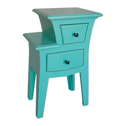 Teal Blue Nightstands Amp Bedside Tables Find Metal Night Stands And Mirrored Nightstand Designs