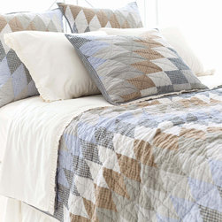 Pine Cone Hill - blanket patchwork quilt - Create a cozy private getaway filled with the natural textures, breezy blues and casual patterns of our blakely bunkhouse bedding collection. Smart and contemporary but effortlessly down-to-earth, the graphic patterns and soft textures blend with a soothing palette to create comfortable and stylish duvet covers, sheet sets, decorative pillows and shams.