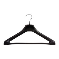 Safco - 24 Pcs. Plastic Hanger in Black - Made of chrome and plastic. 17.5 in. L x 3.25 in. W x 10.5 in. H