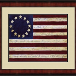 We The People - Framed & Matted Print (30 x 26) - Fine-Art Print on Paper