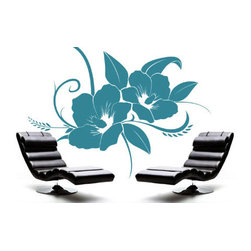 Floral wall decals - American leading wall decor company Dezign With a Z came up with this cool, laid back floral design. It will add a touch of tropical flair to your decor. This premium wall decal starts at $28 and you can choose from 24 different colors to customize it.