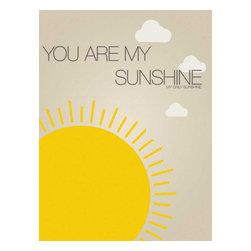 Nursery Code - You Are My Sunshine- Nursery Art Print, 16x20 - You are my sunshine, my only sunshine-- nursery art print.