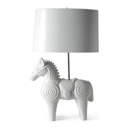 Horse Table Lamp - Modern and playful, this lamp is ideal for a kids' room.