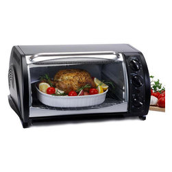 None - Multifunctional Convection Toaster/ Broiler Oven - Every kitchen benefits from a versatile toaster oven Toaster oven features convection, slow cook, broil, bake, roast, toast, defrost and keep warm settings Kitchen appliance can accommodate a 12-inch pizza