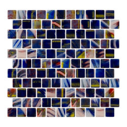 Susan Jablon Mosaics - Cobalt Blue Red And Yellow Recycled Glass Tile - Cobalt blue, red and yellow brush marks in 100% recycled glass tile. Each piece of glass tile could be its own work of art! Perfect for your interior or exterior installation. Eco-friendly never looked so good! Certified by the U.S. Green Building Council for L.E.E.D. Projects, the beauty of these recycled glass tiles prove you don't need to sacrifice to be sustainable. They are suitable for a wide range of uses, indoors and outdoors, in dry or wet locations. A custom mosaic design using these tiles can make a gorgeous, responsible, design statement in your pool, kitchen bathroom, dining room – anywhere! It is very easy to install as it comes by the square foot on mesh and it is very easy to clean! About a decade ago, Susan Jablon re-ignited her life-long passion for mosaics and has built a customer-focused, artist-driven, business offering you the very best in glass and decorative tiles and mosaics. We are a glass tile store committed to excellence both personally and professionally. With lines of 100% SCS Qualified recycled tile, 12 colors and 6 shapes of mirror, semi precious turquoise stones from Arizona mines, to color changing dichroic glass. Stainless steel tiles in 8mm and 4mm and 12 designs within each, and anything you can dream of. Please note that the images shown are actual photographs of the tiles however, colors may vary due to the calibration of each individual monitor. Ordering samples of the tiles to verify color is strongly recommended.
