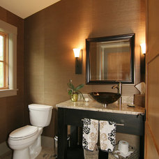 Contemporary Powder Room by New Urban Home Builders