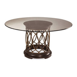 ART Furniture - Intrigue Glass Top Round Dining Table - 161224-2636-TP-BS - The perfect addition to your home