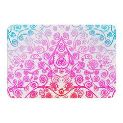 "KESS InHouse - Monika Strigel ""Safe and Sound"" Memory Foam Bath Mat (24"" x 36"") - These super absorbent bath mats will add comfort and style to your bathroom. These memory foam mats will feel like you are in a spa every time you step out of the shower. Available in two sizes, 17"" x 24"" and 24"" x 36"", with a .5"" thickness and non skid backing, these will fit every style of bathroom. Add comfort like never before in front of your vanity, sink, bathtub, shower or even laundry room. Machine wash cold, gentle cycle, tumble dry low or lay flat to dry. Printed on single side."
