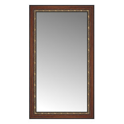 """Posters 2 Prints, LLC - 27"""" x 46"""" Malabar Walnut Custom Framed Mirror - 27"""" x 46"""" Custom Framed Mirror made by Posters 2 Prints. Standard glass with unrivaled selection of crafted mirror frames.  Protected with category II safety backing to keep glass fragments together should the mirror be accidentally broken.  Safe arrival guaranteed.  Made in the United States of America"""