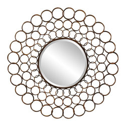 Cooper Classics - Vernon Mirror - Made from metal. Cooper finish. Glass: 16 in. Dia.. Overall: 38 in. Dia.Add a lovely focal point to any wall with the beautiful Vernon mirror. This gorgeous wall mirror features a copper finish that will make a wonderful addition to any decor.