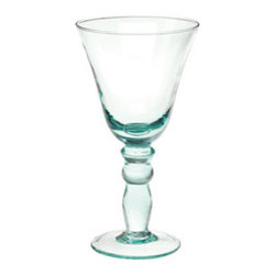 Recycled Classic Wine Glass - Is there a better way to serve a nice Montepulciano or Chianti than in these beautiful Italian handblown wine glasses from Vietri?