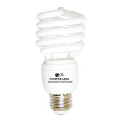Goodlite - Goodlite G-10849 23-watt CFL 100-watt Warm White Spiral Light Bulb (Pack of 25) - This compact florescent light bulb (CFL) offers long life and energy efficient task lighting. Create a comfortable, pleasant atmosphere in your kitchen or bath or bring the outdoors in with the bright white light.